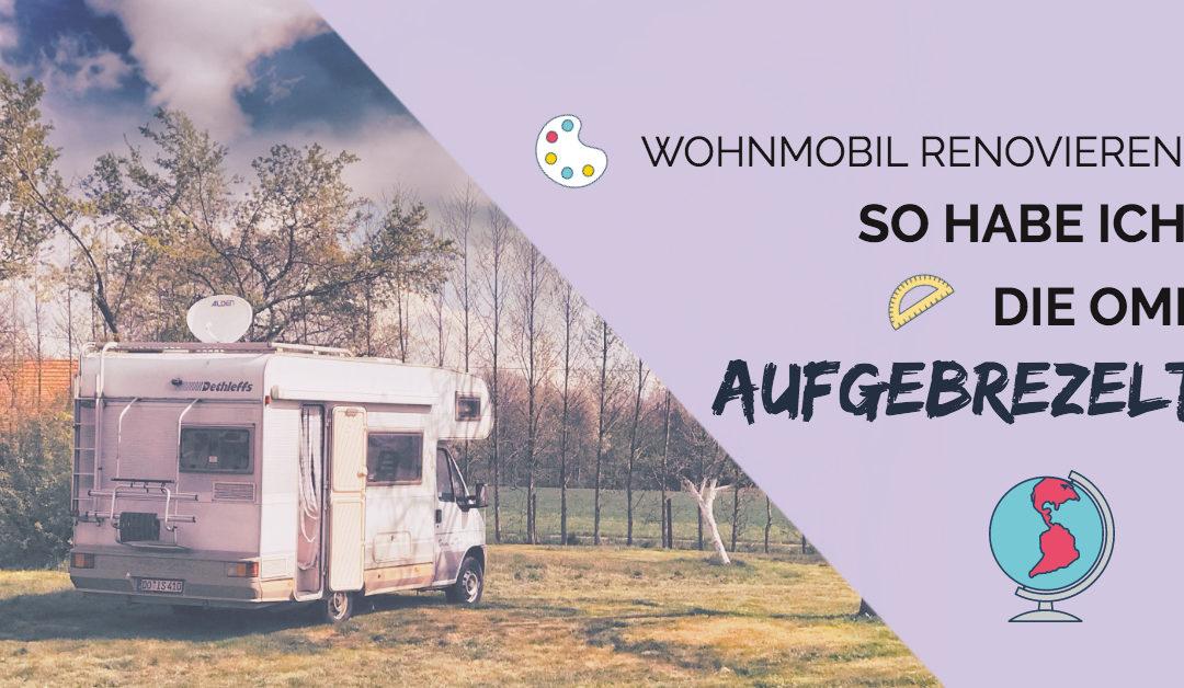Im Wohnmobil (Wohnwagen) renovieren