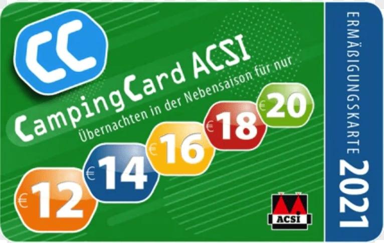 Campingkarten - ACSI - die besten Rabattkarten für Camper