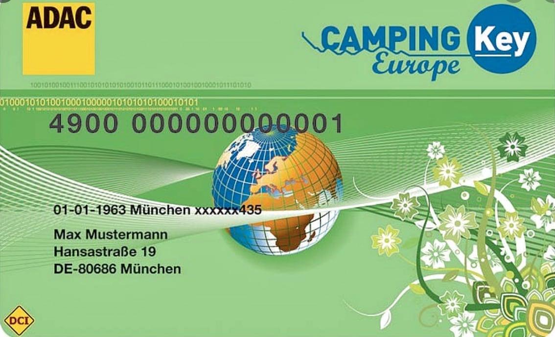 Campingkarten - Camping Key Europa - die besten Rabattkarten für Camper