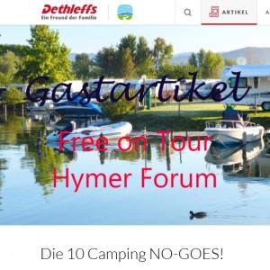 10 x Hilfe für Camping Anfänger by Hymer & IsasWomo