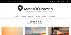 Blog Design von Movinn Groovin, Thema Vanlife