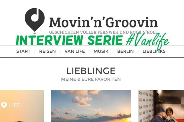 Interview Movinn Groovin Thema Vanlife