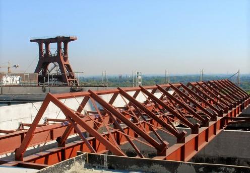 Auf den Dächern der Zeche Zollverein