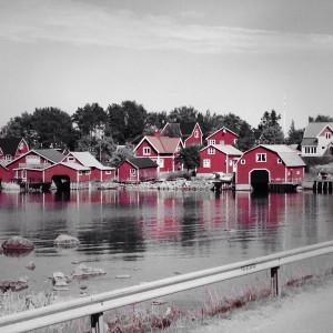Ein kleines schwedisches Dorf, direkt am Vätternsee !