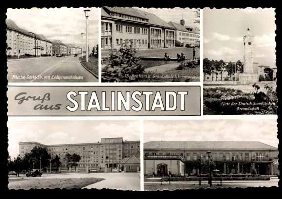 Postkarte Eisenhüttenstadt ( cmda free Picture Datei)