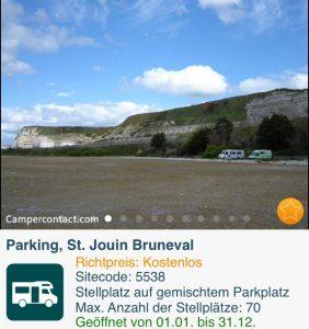 Der selbe Stellplatz in St. Jouin Bruneval von der anderen Seite