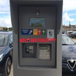 Parkautomat ohne Ticketausgabe!