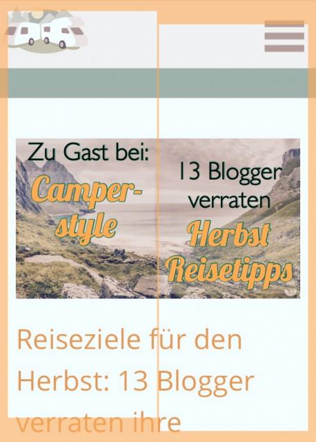 Camperstyle Gastbeitrag- Tipps Reiseziele im Herbst