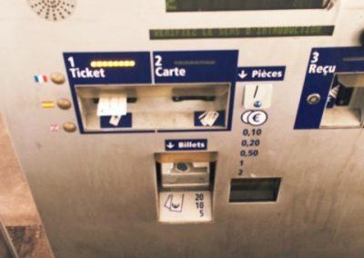 """Keine Panik vor der Maut, der untere Teil des """"doppelten Zahl Automaten"""""""