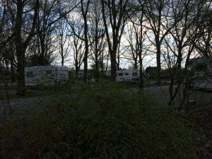Der Womo Stellplatz am Kuhhierten im Winter / Frühling