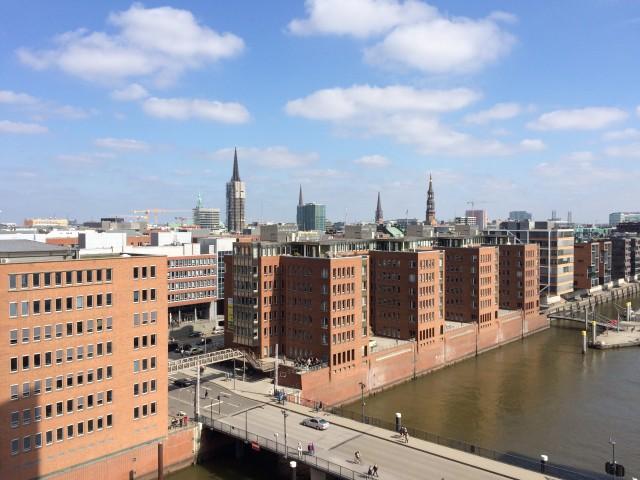 Mit dem Wohnmobil durch Hamburg, über den Dächern der Hanse Stadt