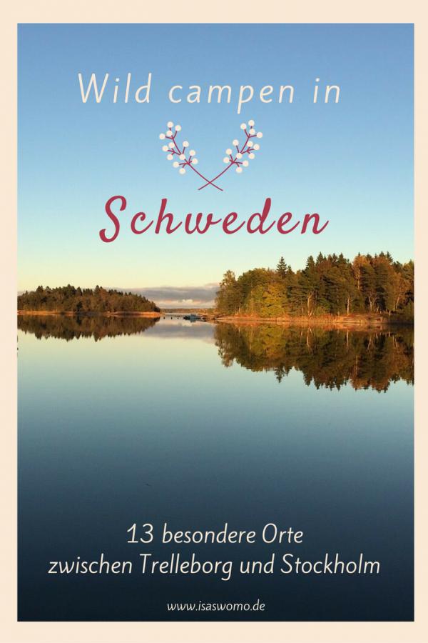 Mit dem Wohnmobil oder Wohnwagen wild campen in Schweden