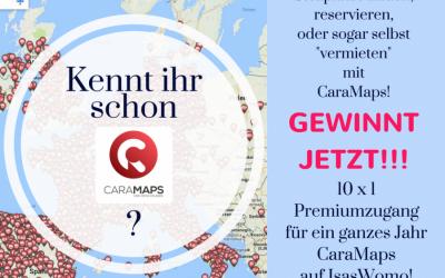 *Neue Stellplätze durch CaraMaps – Gewinnt 10 x einen Premium-Account für 1 Jahr