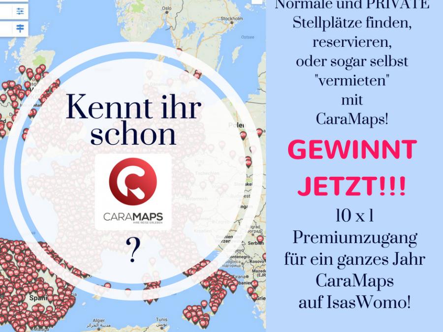 *Neue Stellplätze durch CaraMaps – Gewinnt 10 x 1 Premiumaccount für 1 Jahr