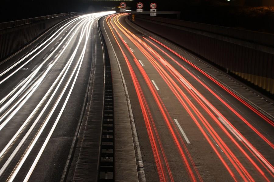 Gas Überfälle auf Camper, nachts auf der Autobahn