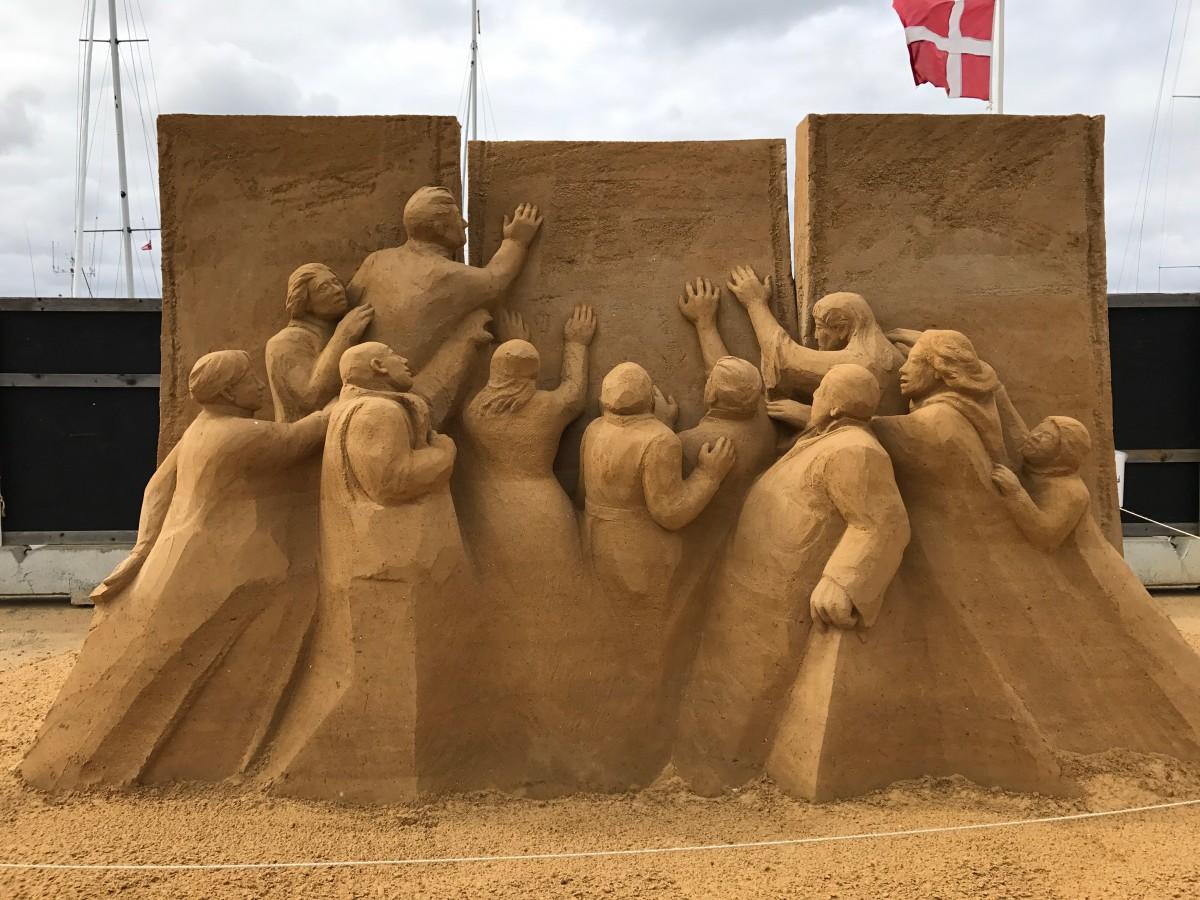 Kunst aus Sand... Erlebnisse auf meinem Road Trip durch Dänemark