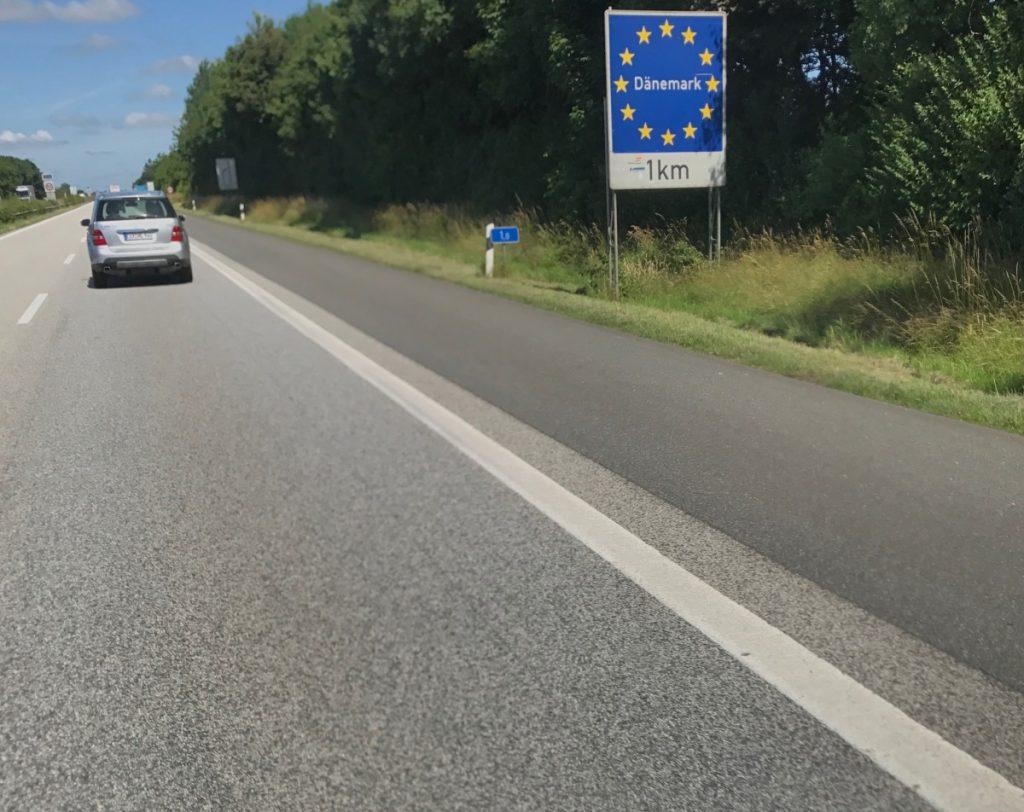 Kurz vor der Grenze zu Dänemark