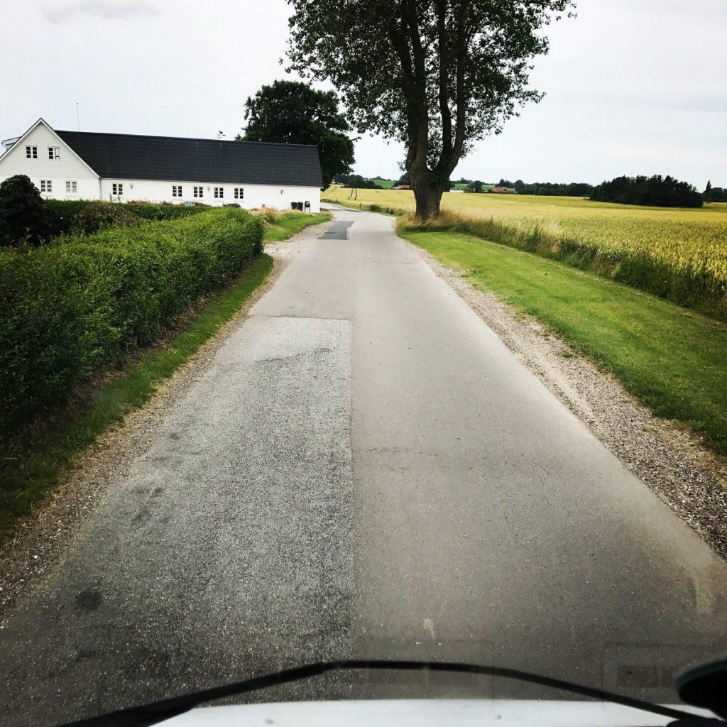 Kleine Straßen in Dänemarks Mitte