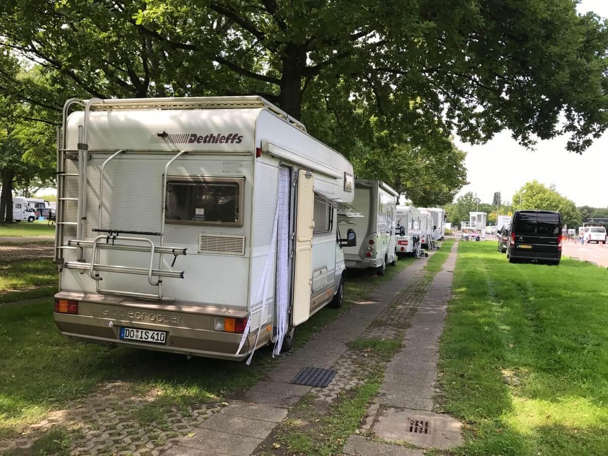 Stellplatz P1 auf dem Caravan Salon 2017