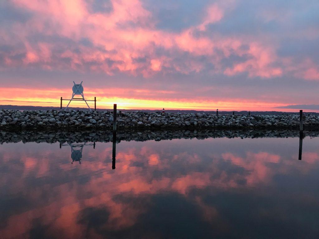 Abendstimmung in Ebeltoft an der dänischen Ostseeküste