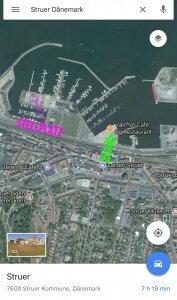Stellplatz und Cafe in Struer Dänemark