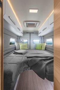 Die Betten im Knaus VW Boxdiver auf dem Caravan Salon 2017