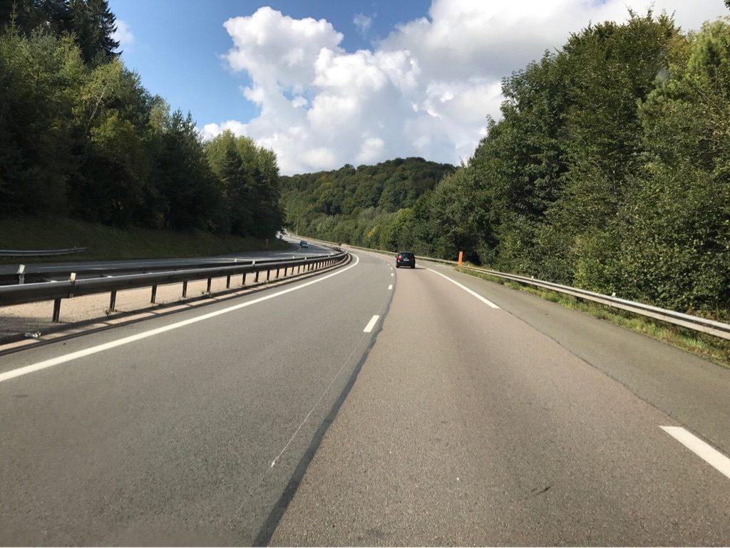 Leere Autobahnen in Frankreich
