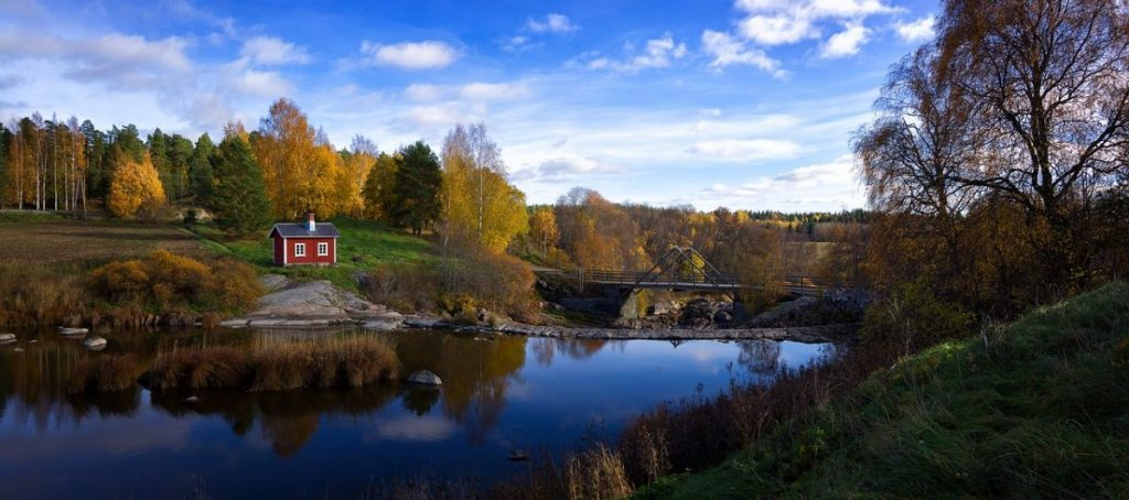 Camping in Finnland