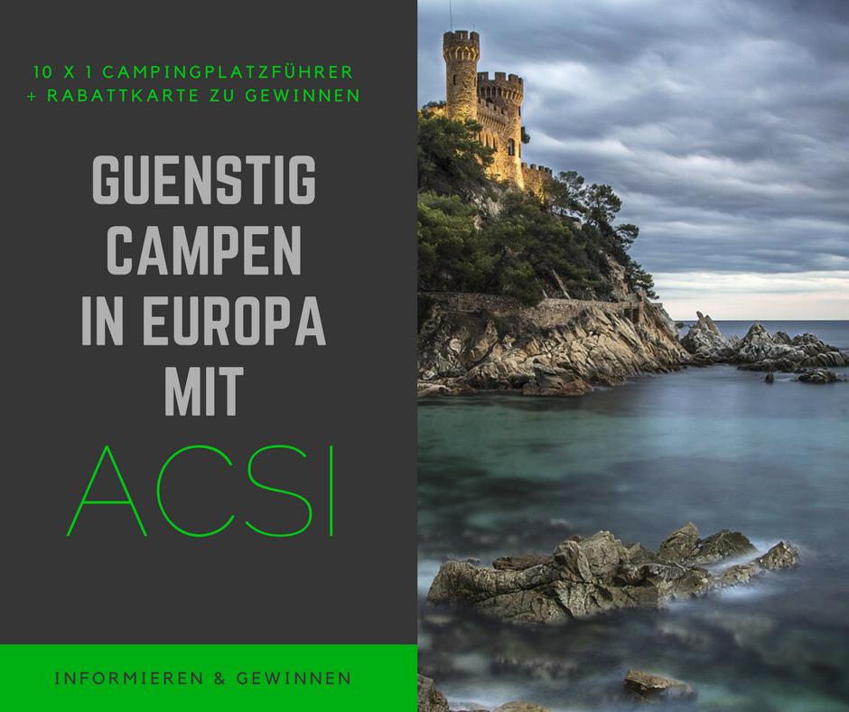 ACSI Campingplatzführer und Rabattsystem