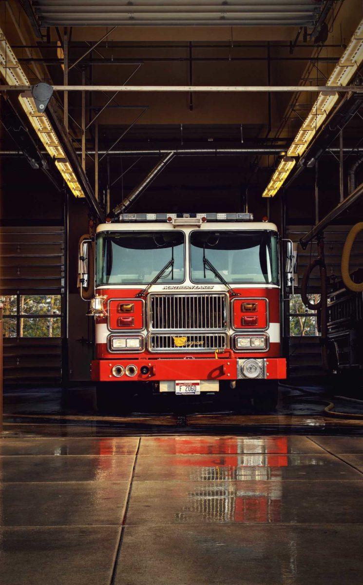 Feuerwehr und der Notfallhammer
