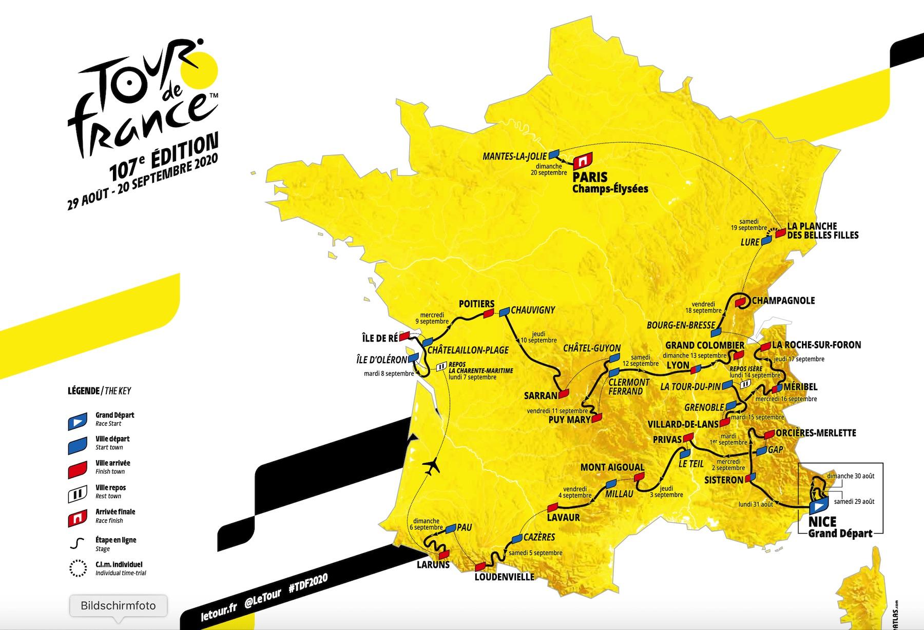 Wohnmobil Frankreich Tour de France