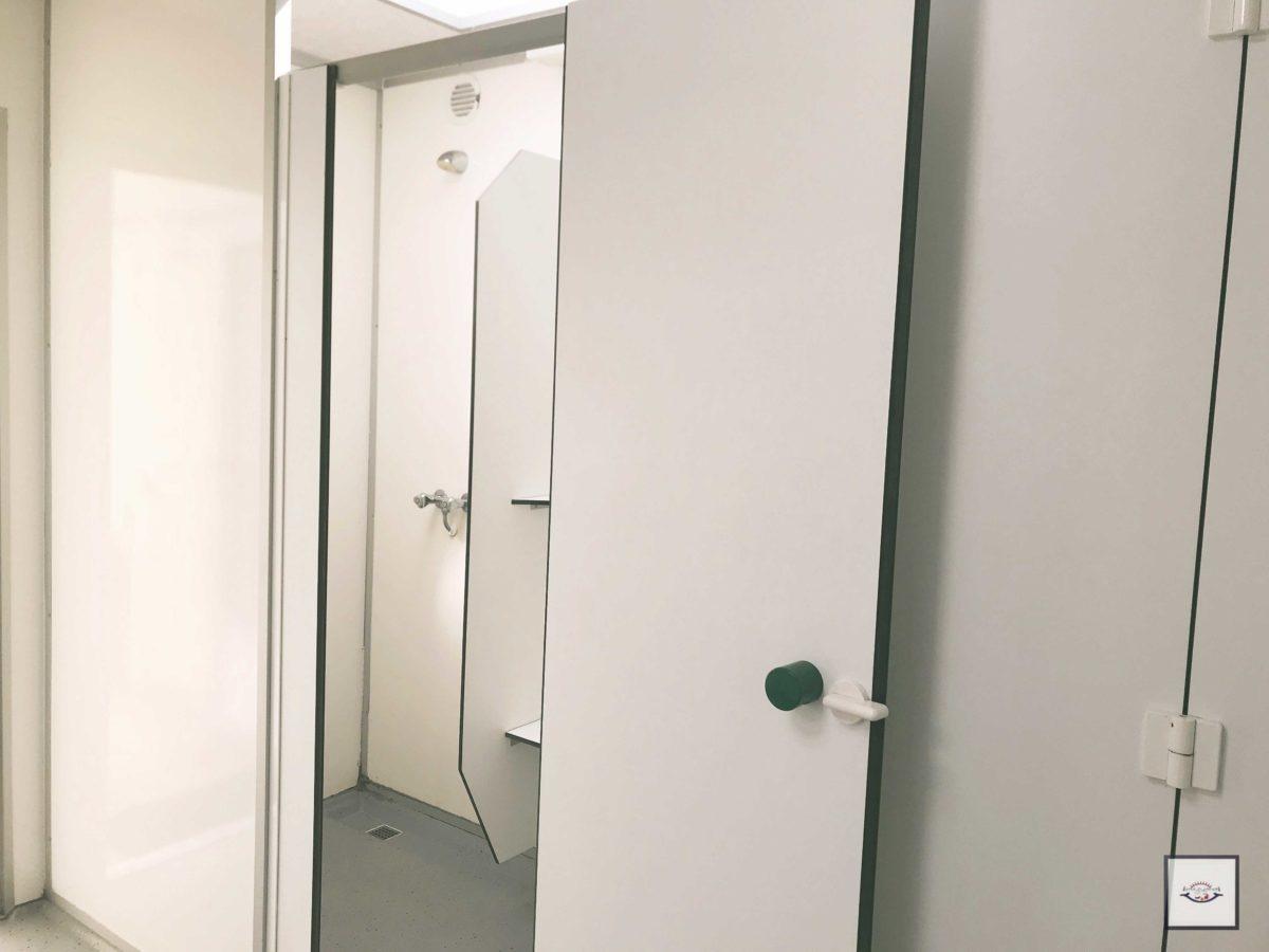 Super saubere Duschen auf dem Campingplatz nn Twist