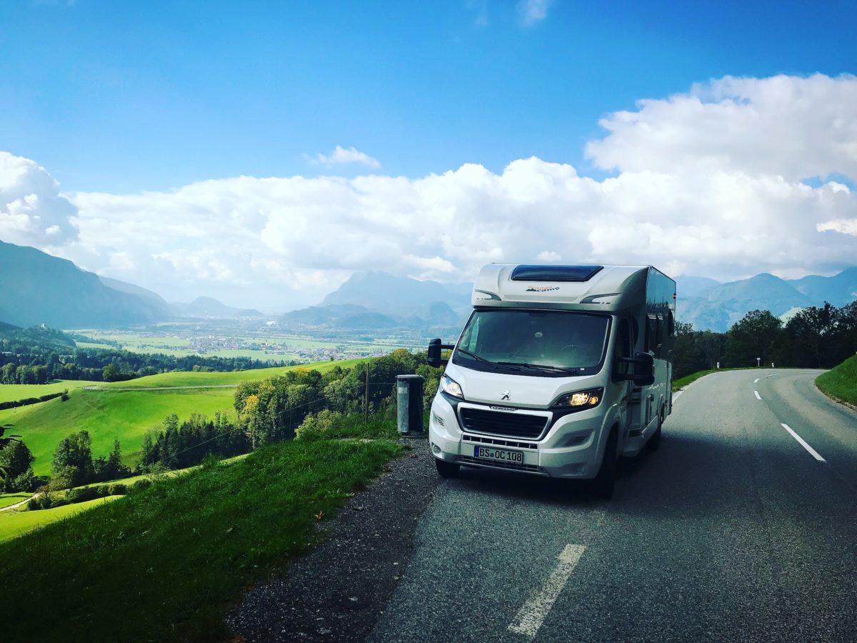 Mit dem Wohnmobil in den Alpen