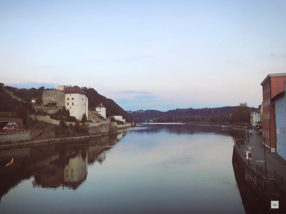 Passau am Abend, Wohnmobil Tour Alpen