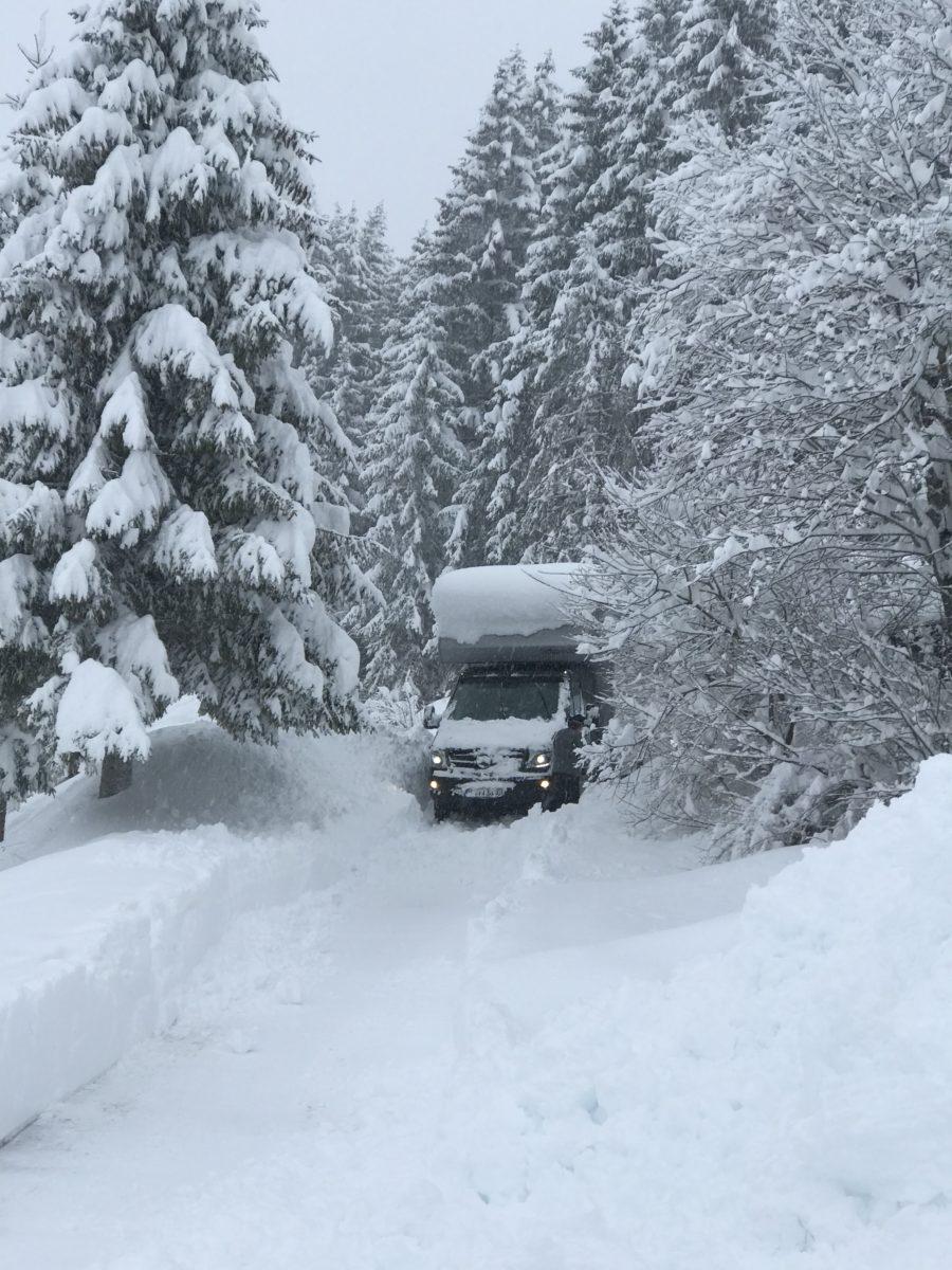 Allrad beim Wintercamping