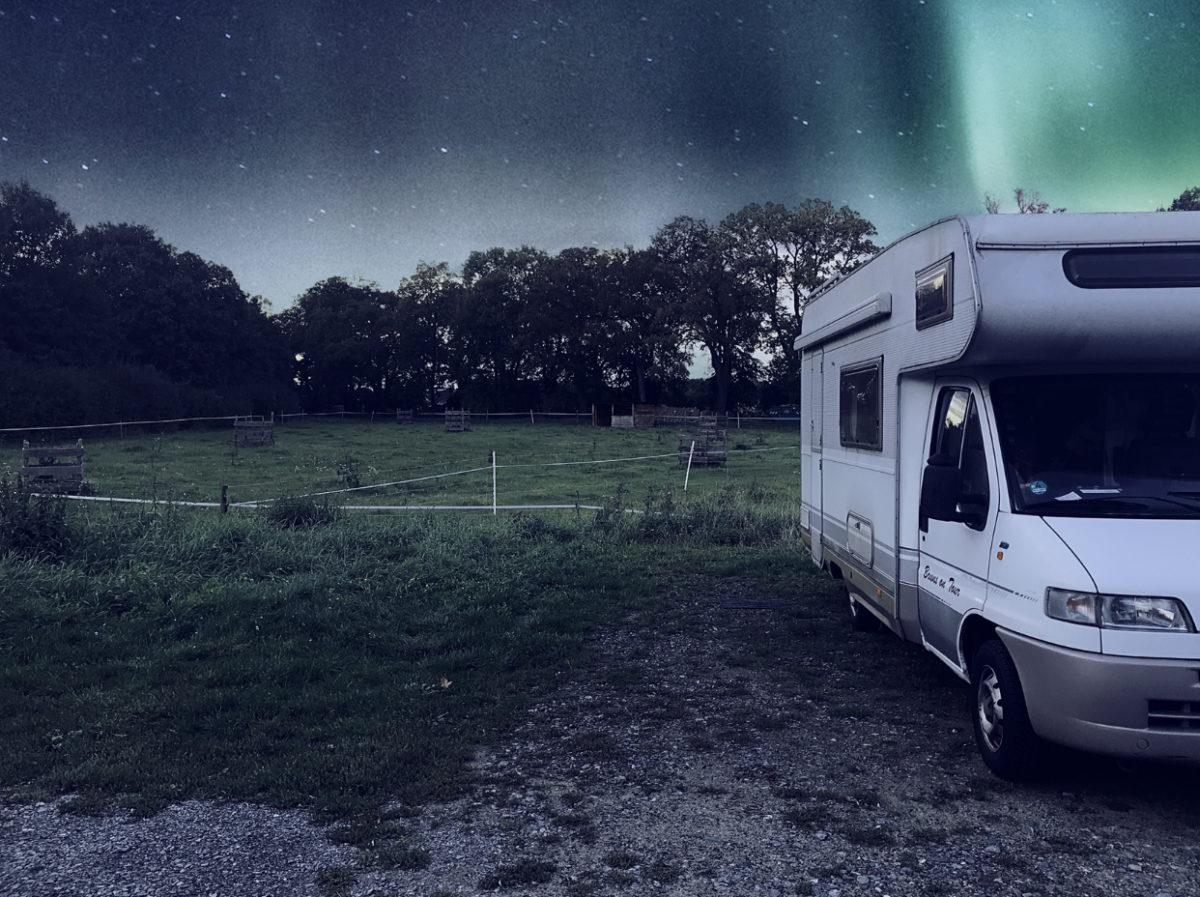 Polarlichter in Schweden.