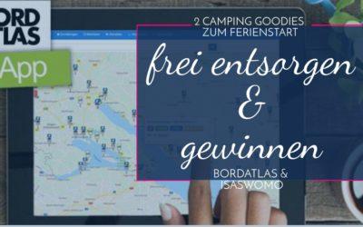 2 Camping Schmankerl zum Ferienstart – Entsorgen und gewinnen mit Bordatlas und IsasWomo