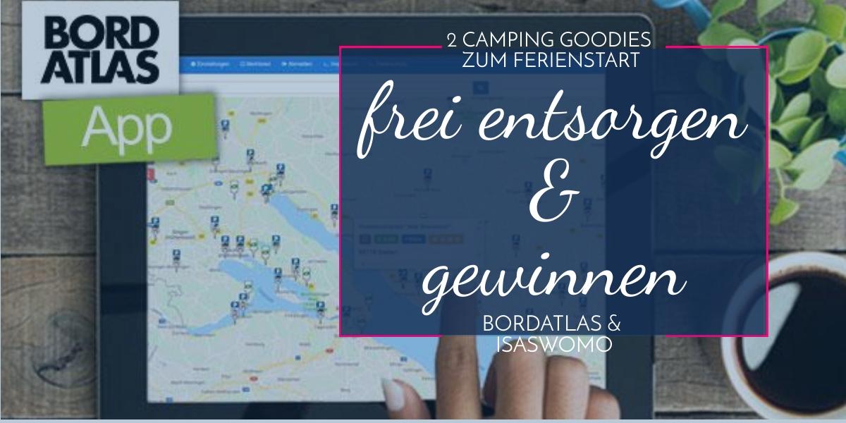 gewinnen und entsorgen, die Bordatlas Web App für Camper