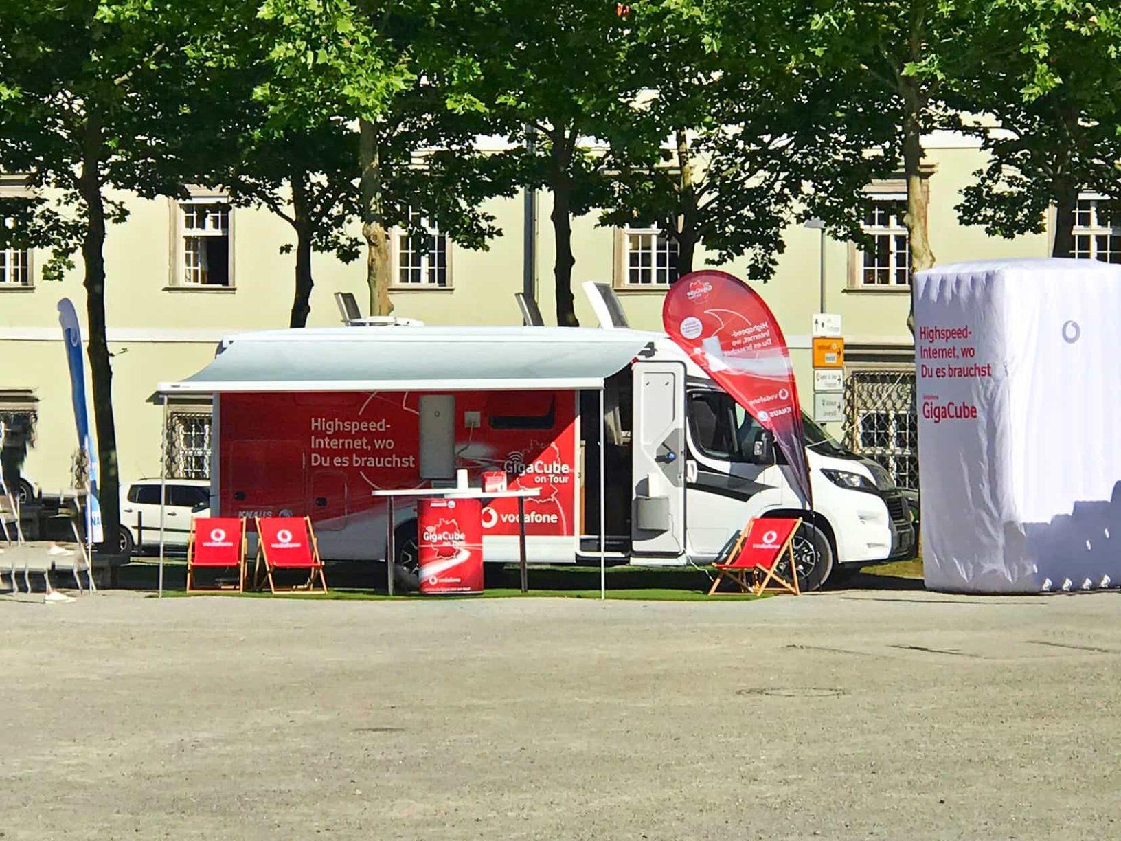 Internet unterwegs Knaus und Vodafone Gigacube
