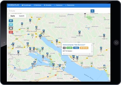 Gewinnen und entsorgen, die Web App von Bordatlas