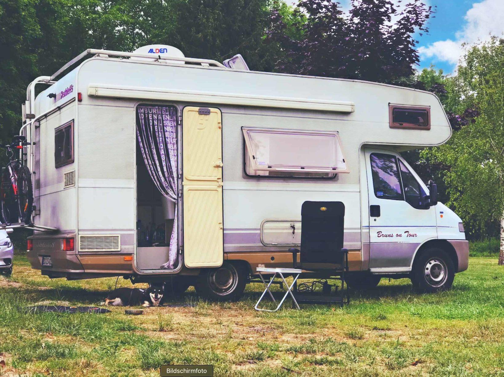 Campingplatz bei Reims Frankreich