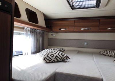 Längsbetten im Wohnmobil auf gut 6,70 Meter