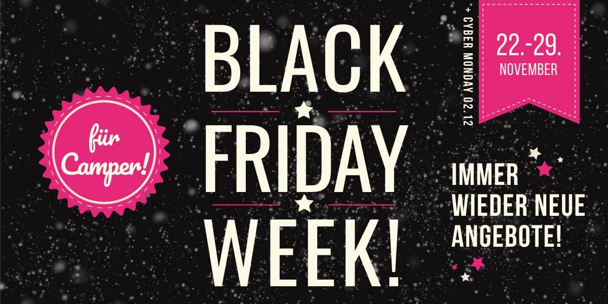Black Friday Week für Camper