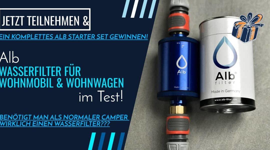 Wasserfilter für Wohnmobile (un)nötig?! + Gewinnt ein komplettes Alb Filter Starter-Set!