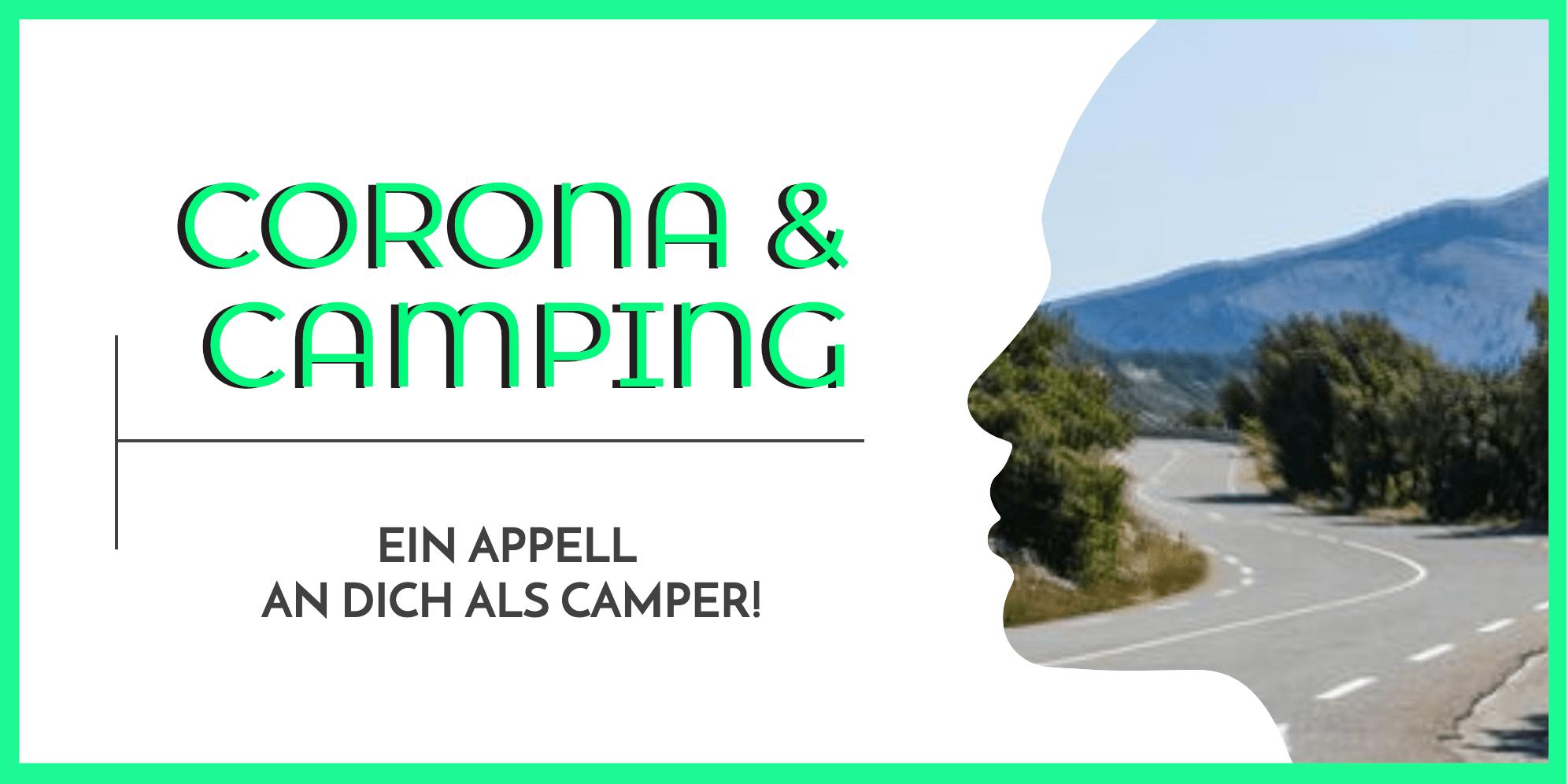 Corona und Camping ein Appell an alle Camper