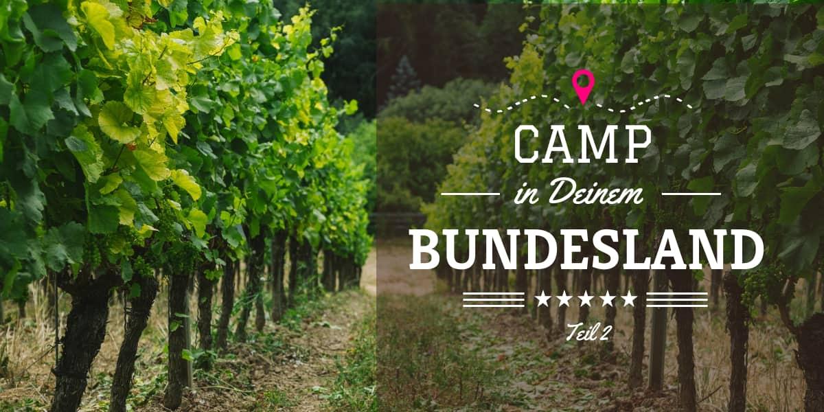 Camping im eigenen Bundesland