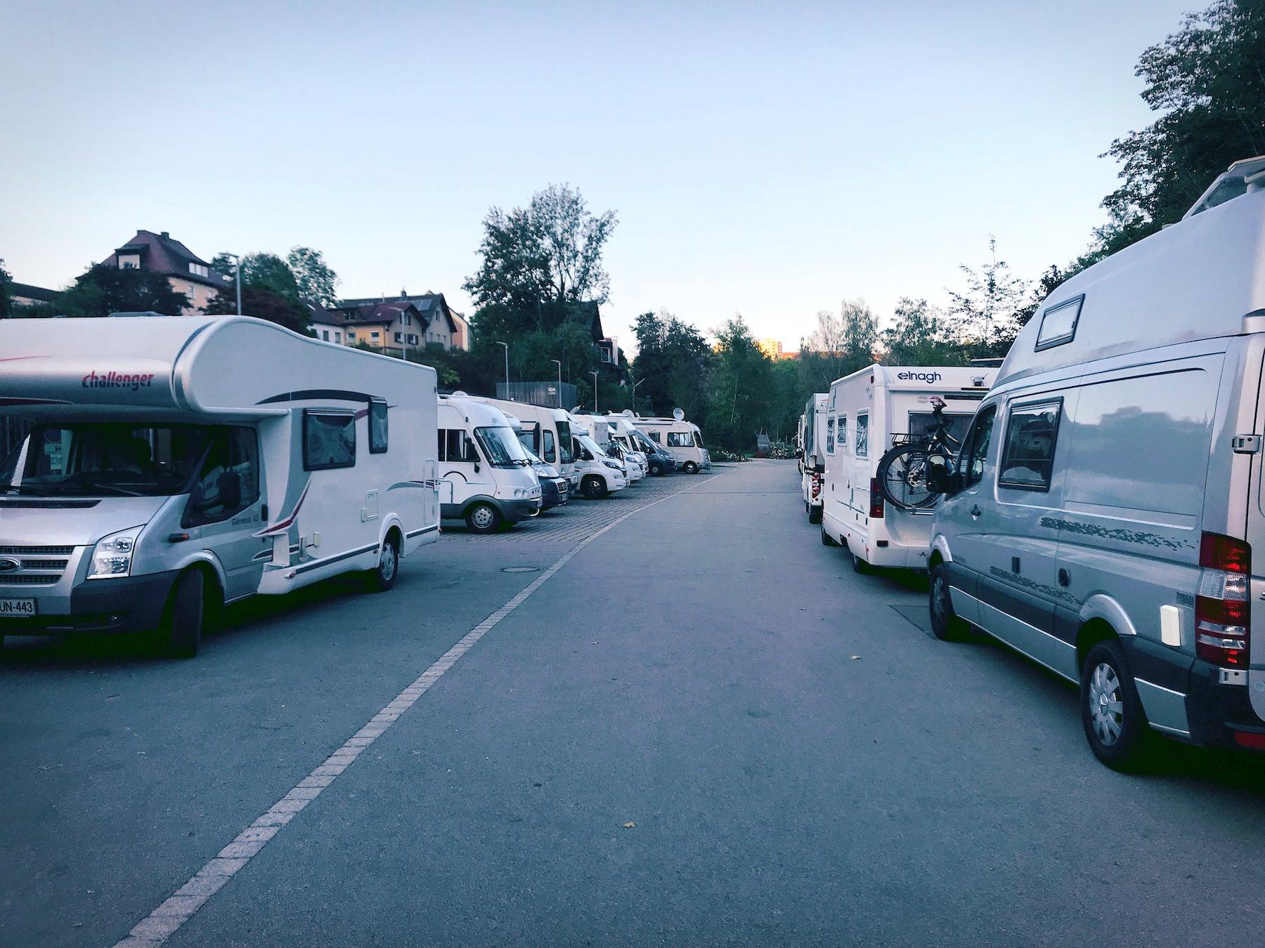 Echt camping im Sommer