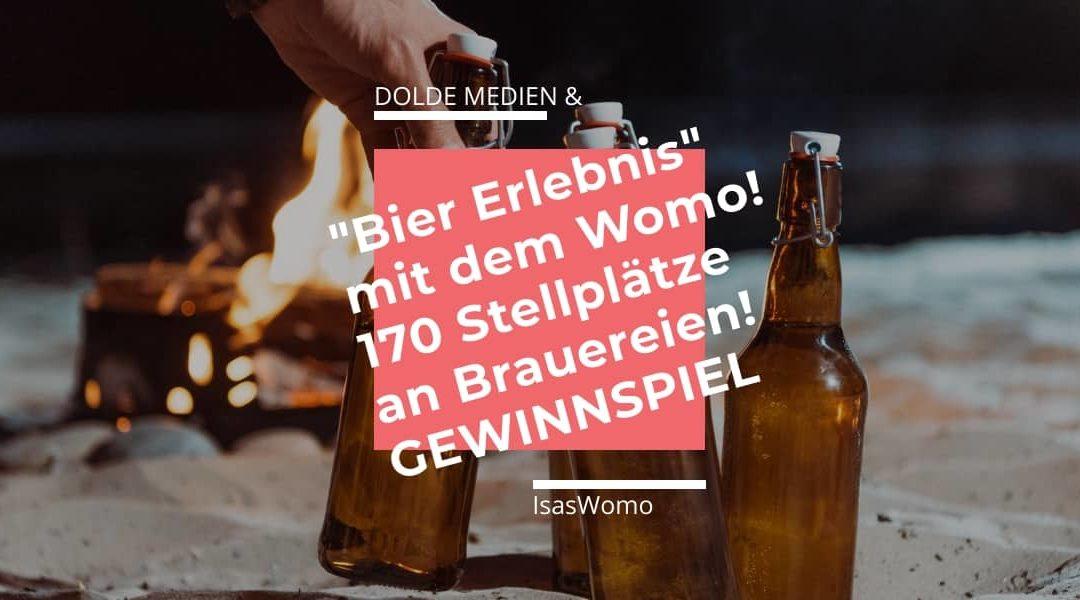 """Stellplätze an Brauereien – """"Bier-Erlebnis"""" mit dem Wohnmobil + Gewinnspiel!"""
