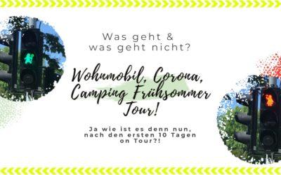 Wohnmobil Camping Corona Frühsommer Tour