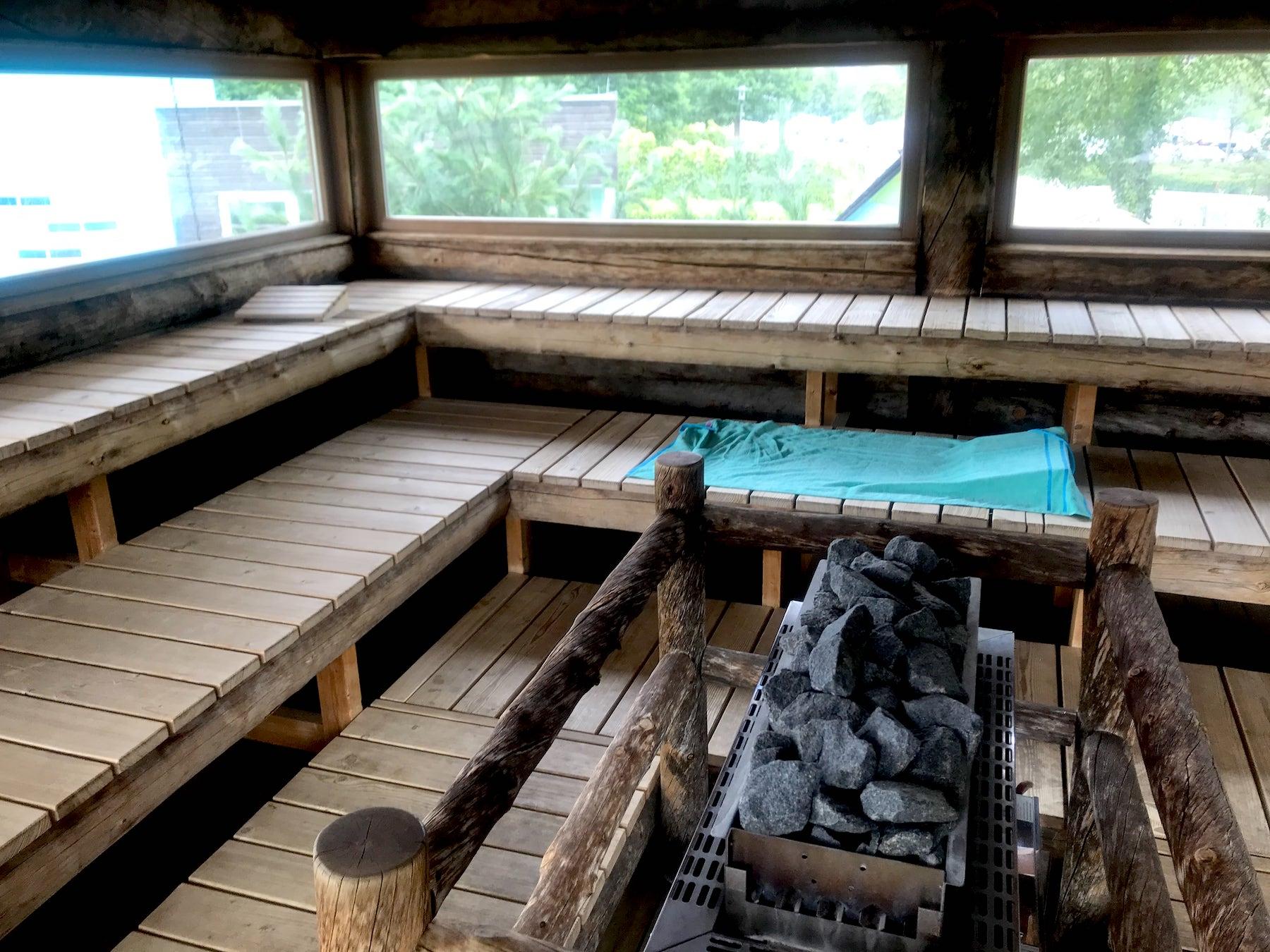 Sauna und Wohnmobil Stellplatz